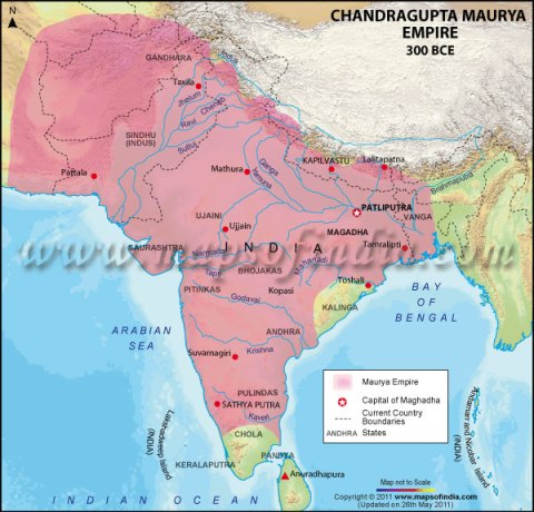Chandragupta Maurya - Map