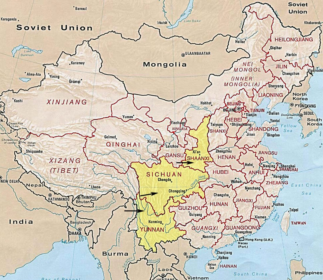 Map China Province_ coll sites